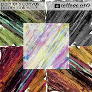 Painter's Canvas 7 Paper Pak
