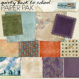 Quirky Back to School Paper Pak