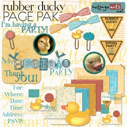 Rubber Ducky & Birthday Party Page Pak