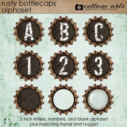 Rusty Bottlecaps AlphaSet