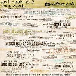 Say it Again 3 Scrap.Words