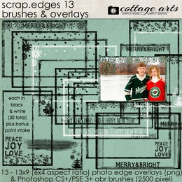 Scrap.Edges 13 Brushes & Overlays