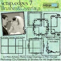 Scrap.Edges 7 Brushes & Overlays {Mini}