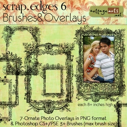 Scrap.Edges6 Brushes & Overlays