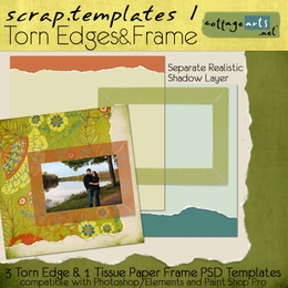 Scrap Templates 1 Torn Edges & Frame