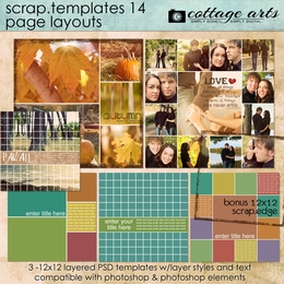 Scrap Templates 14 - Page Layouts