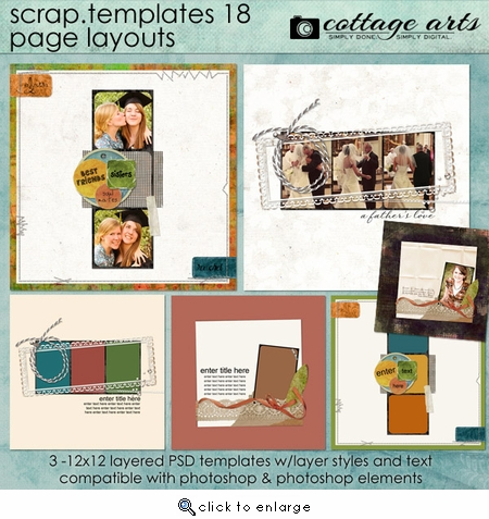 Scrap Templates 18 - Page Layouts