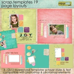 Scrap Templates 19 - Page Layouts