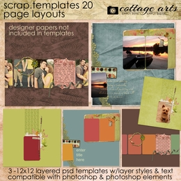 Scrap Templates 20 - Page Layouts