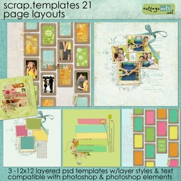 Scrap Templates 21 - Page Layouts