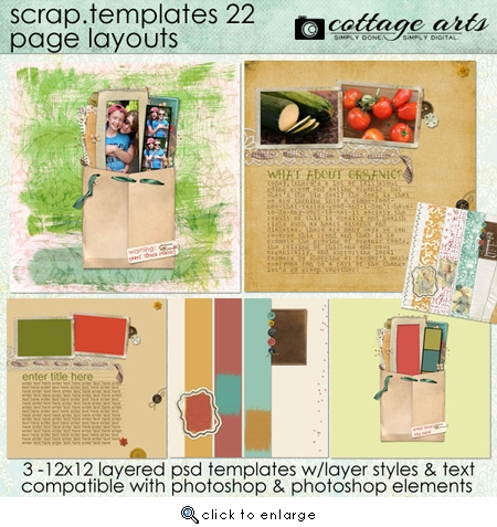 Scrap Templates 22 - Page Layouts