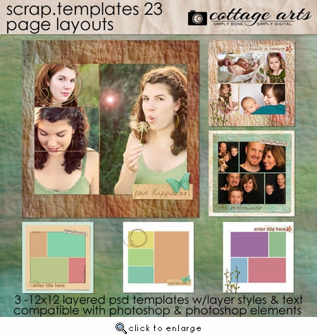 Scrap Templates 23 - Page Layouts