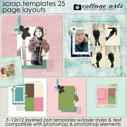 Scrap Templates 25 - Page Layouts