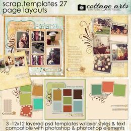 Scrap Templates 27 - Page Layouts