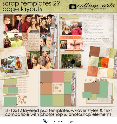 Scrap Templates 29 - Page Layouts