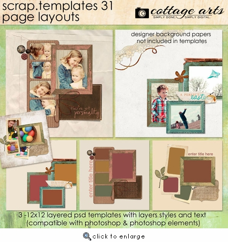 Scrap Templates 31 - Page Layouts