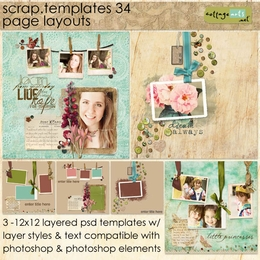 Scrap Templates 34 - Page Layouts