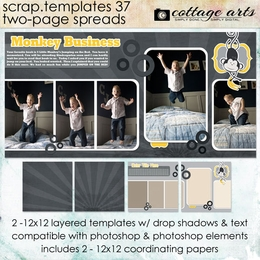 Scrap Templates 37 - Two-Page Spreads