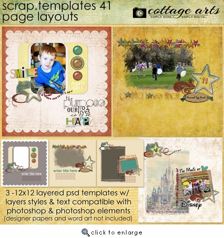 Scrap Templates 41 - Page Layouts