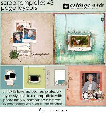 Scrap Templates 43 - Page Layouts