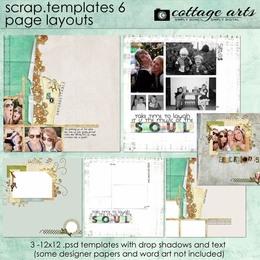 Scrap Templates 6 - Page Layouts