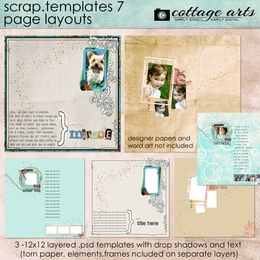 Scrap Templates 7 - Page Layouts