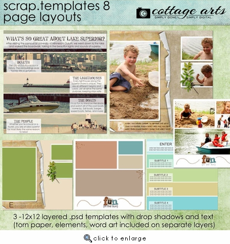 Scrap Templates 8 - Page Layouts