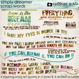 Simply Dreamer Scrap.Words