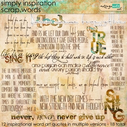 Simply Inspiration Scrap.Words