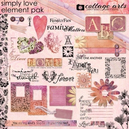 Simply Love 1 Element Pak w/AlphaSet