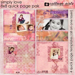 Simply Love 8x8 Quick Page Pak