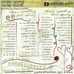 Simply Spring Scrap.Words