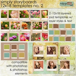 Simply Storyboards 2 - 12x18 Templates