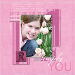 Simply You ScrapOver Template {Pink}