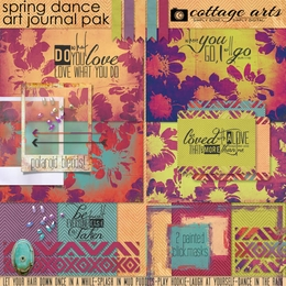 Spring Dance Art Journal Page Pak