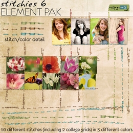 Stitchies 6 Element Pak