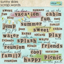 Sunny Skies Scrap.Words