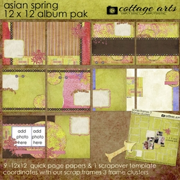 Asian Spring 12x12 Album Pak