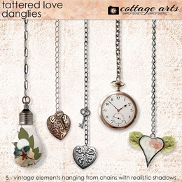 Tattered Love Danglies