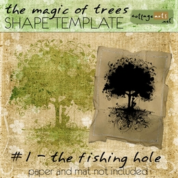 The Magic of Trees 1 - Fishing Hole Shape Template