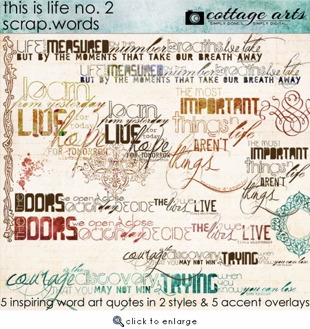 This is Life 2 Scrap.Words