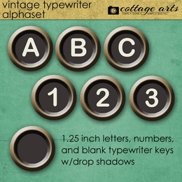Vintage Typewriter AlphaSet