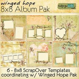 Winged Hope 8x8 Album Pak