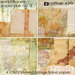 World Travels 3 Paper Pak