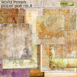 World Travels 4 Paper Pak