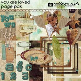 You are Loved Page Pak w/Alpha