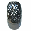 "18""H  Metallic Black Flame Dome Hurricane Fire Pot by Pacific Decor"