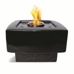 "9""  Square Black Baltic Flamepot or Fire Pot by Pacific Decor"