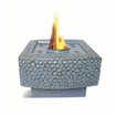 "9"" Square Blue Dania Flamepot or Fire Pot by Pacific Decor"