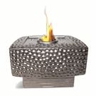 "9"" Square Metallic Black Dania Flamepot or Fire Pot by Pacific Decor"